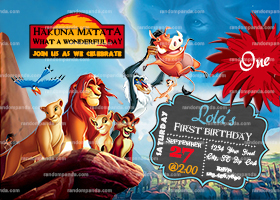 Lion King Invitation, Lion King Party, Simba Birthday Invite