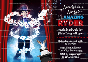 Personalize BE a Magician Invitation, Magic Show Party, Wizard Birthday Invite