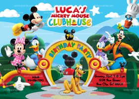 Mickey Mouse Invitation, Mickey Mouse Party, Mickey Mouse Invite