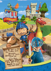 Mike The Knight Invitation, Mike The Knight Party Invite