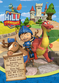 Mike The Knight Invitation, Mike The Knight Birthday Party Invite