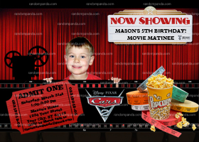 DIY Movie Night Invitation, DVD Movie Party, Drive-In Movie Invite