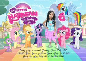 Personalize My Little Pony Invitation, Little Pony Party, Rainbow Dash Invite