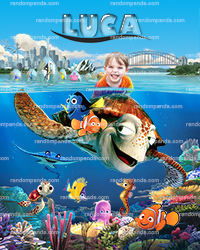 Personalize Kids Poster, Finding Nemo Party Poster, Finding Dory Wall Art