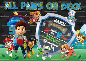 Paw Patrol Invitation, Puppy Party, Ryder Birthday Invite