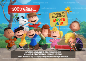 Personalize Peanuts Movie Invitation, Charlie Brown Party, Peanuts Birthday Invite