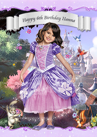 Personalize BE Princess Sofia Poster, Sofia The First Party Backdrop
