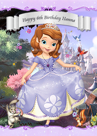 Personalize Princess Sofia Poster, Sofia The First Party Backdrop