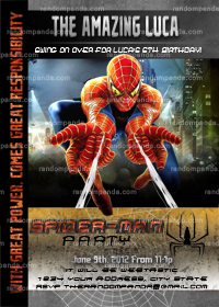 Spiderman Invitation, Amazing Spiderman Invite, Spiderman Party