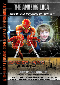 Amazing Spiderman Invitation, Spiderman Party, Spiderman Invite