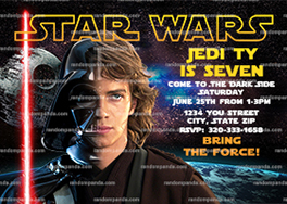 Star Wars Invitation, Skywalker Party, Star Wars Birthday Invite