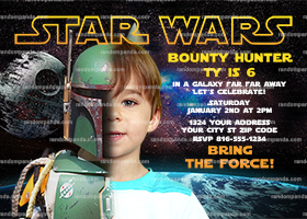 Personalize Star Wars Invitation, Boba Fett Party, Star Wars Birthday Invite