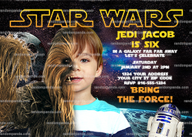 Personalize Star Wars Invitation, Chewbacca Party, Star Wars Birthday Invite