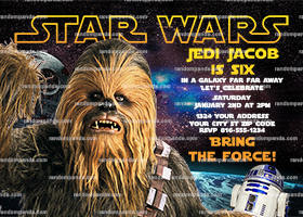 Star Wars Invitation, Chewbacca Party, Star Wars Birthday Invite
