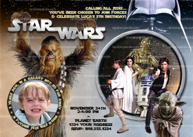 Star Wars Invitation, Star Wars Party, Chewbacca Birthday Invite