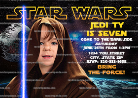 Personalize Star Wars Invitation, Be A Jedi Party, Skywalker Birthday Invite