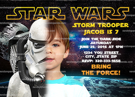 Personalize Star Wars Invitation, Stormtrooper Party, Star Wars Birthday Invite