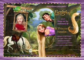 Tangled Invitation in Spanish, Rapunzel Party, Tangled Birthday Invite