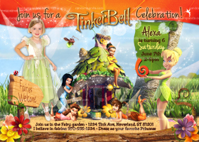 Tinkerbell Invitation, Add Wings, Tinkerbell Party, Fairy Invite