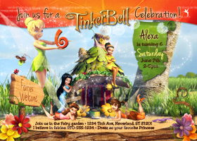 Tinkerbell Invitation, Fairy Invite, Tinkerbell Birthday Party
