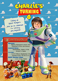 Personalize Toy Story Invitation, BE Buzz Lightyear, Buzz Party Invite