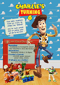 Toy Story Invitation, Woody Cowboy, Woody's Roundup Party Invite