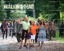 Personalize Funny Fake Family Running from Zombies Poster