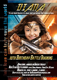 Wonder Woman Invitation, Personalize Avengers Party, Wonder Woman Invite