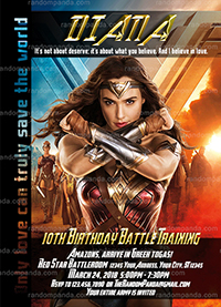 Wonder Woman Invitation, Avengers Party, Wonder Woman Birthday Invite