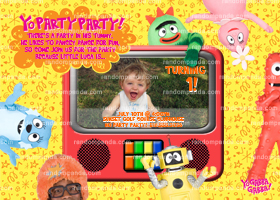 Yo Gabba Gabba Invitation, Yo Gabba Party, Yo Gabba Invite
