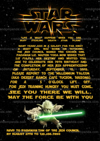 Star Wars Invitation, Yoda Party, Star Wars Birthday Invite