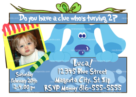 Blues Clues Invitation, Blue's Clues Party, Blues Clues Invite