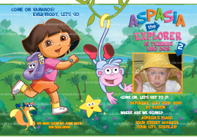 Dora The Explorer Invitation, Dora Party, Dora the Explorer Invite