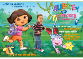 Dora The Explorer Invitation, Dora the Explorer Invite, Dora Party