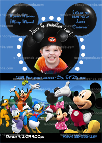 Mickey Mouse Invitation, Add Mickey Ears, Mickey Mouse Party Invite