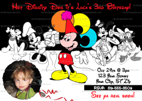 DIY Mickey Mouse and Friends Invitation, Mickey Mouse Party Invite
