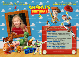 Toy Story Invitation, Woody Invite, Jessie Birthday, Toy Story Party