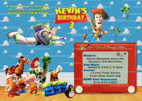 Toy Story Invitation, Buzz Lightyear Party, Toy Story Invite