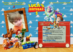 Toy Story Invitation, Toy Story Party, Buzz Lightyear Invite