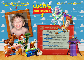Toy Story Zurg Invitation, Toy Story Party, Buzz Lightyear Invite