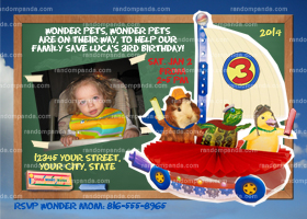 Wonder Pets Invitation, Wonder Pets Party, Wonder Pets Invite